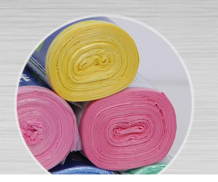 百家好世 150只装 彩色塑料环保点断式加厚大号垃圾袋家用塑料袋40cm*50cm*30只装*五卷 BJ9082产地