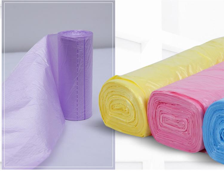 百家好世 150只装 彩色塑料环保点断式加厚大号垃圾袋家用塑料袋40cm*50cm*30只装*五卷 BJ9082低价