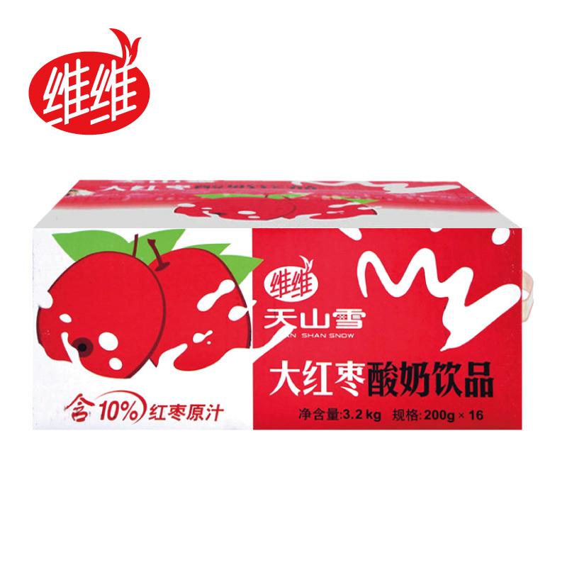 维维 天山雪 大红枣 酸奶饮品 200g*16袋/箱