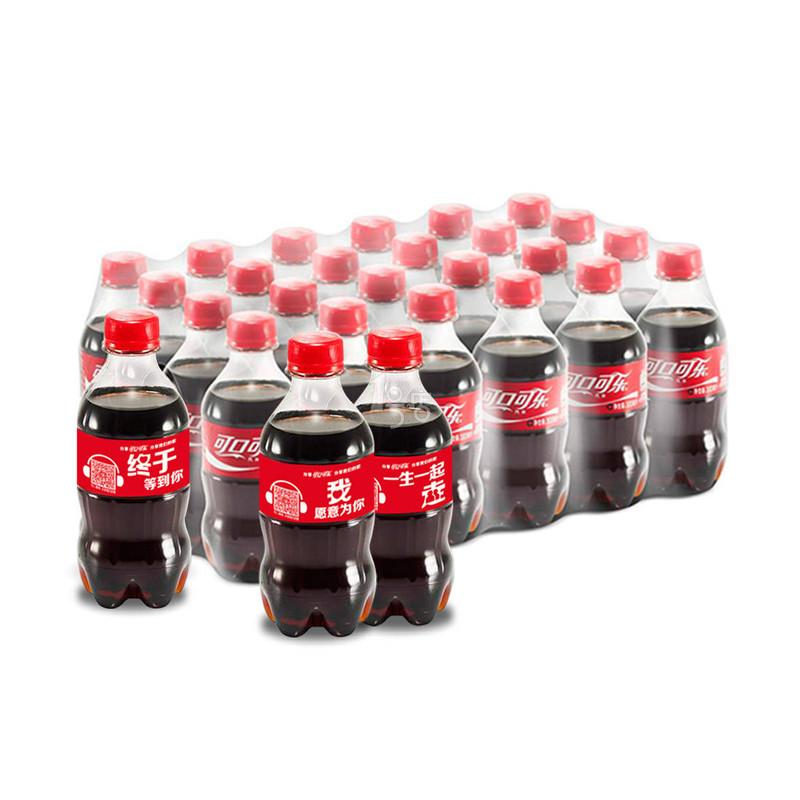 可口可乐 汽水300ml*24瓶(24联) 整箱
