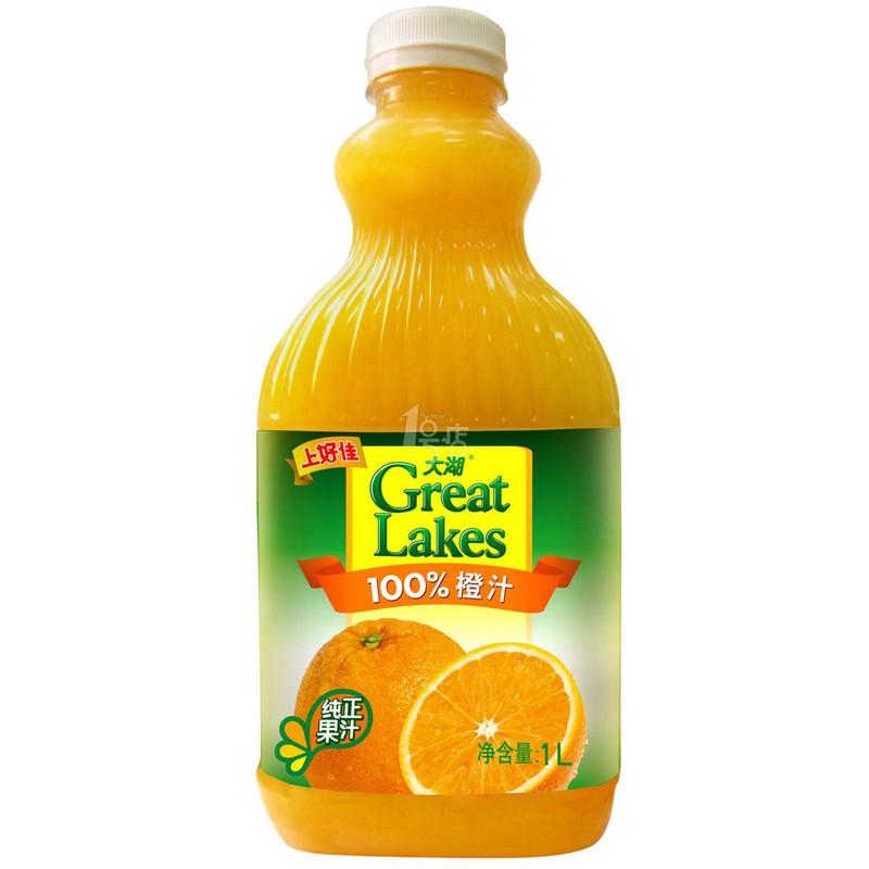 大湖 橙汁 1L/瓶
