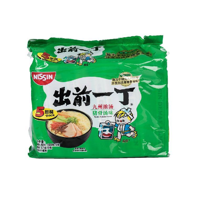 出前一丁 九州浓汤猪骨汤味油炸方便面(5包装)100g*5