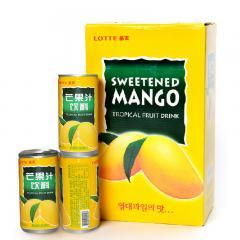 Lotte/乐天 芒果汁饮料 纯天然果汁压缩 180ml*15罐