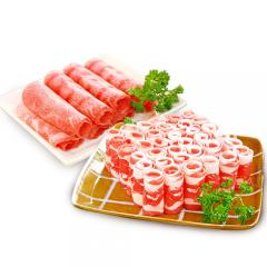 元圣 羊肉片200g*2+牛肉片200g*2