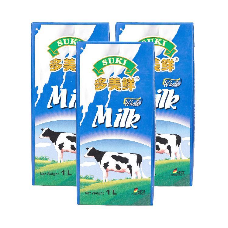 多美鲜 全脂牛奶 1L*3