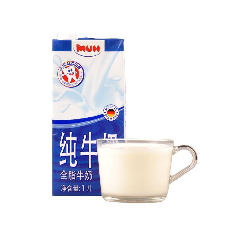 甘蒂牧场 全脂纯牛奶 1L