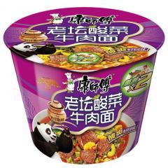 康师傅 开心桶酸菜牛肉面 119g/桶 方便面泡面