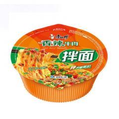 康师傅 干拌碗香辣牛肉面 127g/碗 方便面泡面