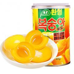 环亨 韩版黄桃罐头425g 水果罐头 方便休闲零食