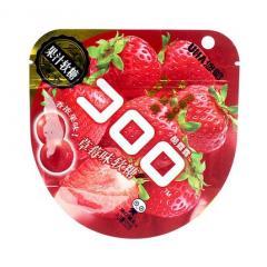 UHA/悠哈草莓味果汁软糖52g/袋网红零食休闲零食 糖果