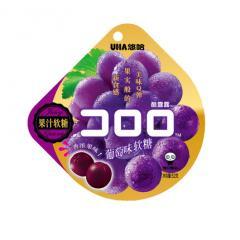 UHA/悠哈葡萄味果汁软糖52g/袋网红糖果