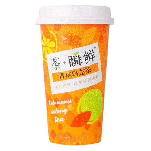 统一茶瞬鲜青桔乌龙茶400ml